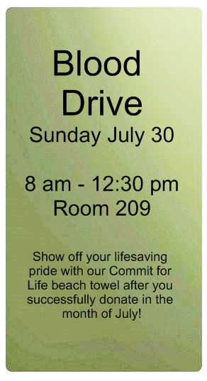 Blood Drive July 30